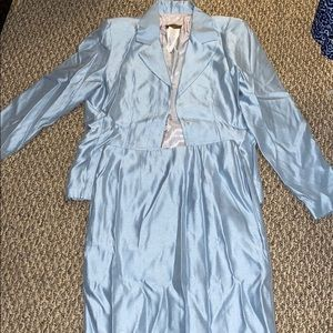 Baby blue Skirt Suit